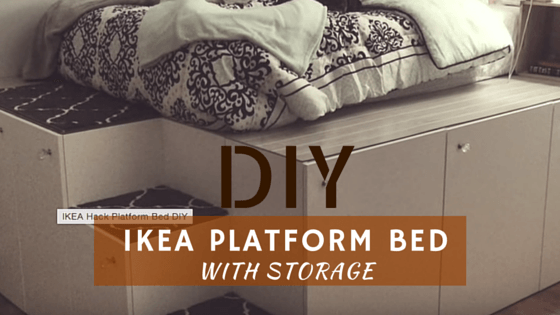 Build A DIY Bed Frame With Storage Out Of Ikea Cabinets
