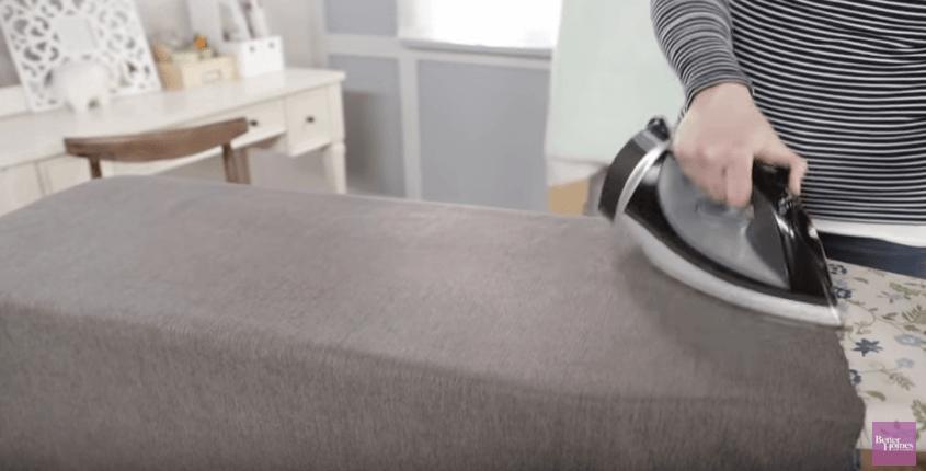Iron the fabric