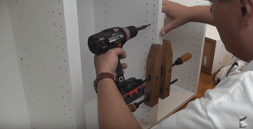 screw cabinets together