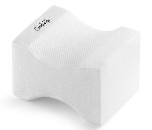 The ComfiLife Orthopedic Knee Pillow for Sciatica Relief is the top-rated premium memory foam pillow on the market, with 4.8/5 stars and more than six-thousand reviews on amazon.com.