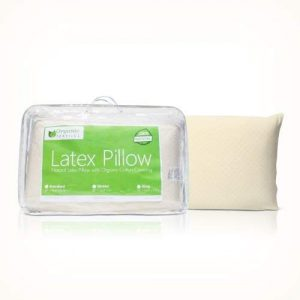 OrganicTextiles Latex Pillow is made from 100% natural latex foam and it offers the best kind of support possible for those with neck pain. This natural latex foam pillow has a contoured design that adjusts according to the user's requirements to provide ultimate spinal alignment.