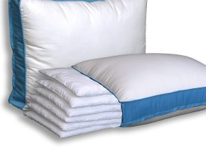 There are six layers to this pillow that can be easily removed or added back until you find the perfect height for your unique needs. Each one of the soft, fluffy layers is made up of 5-star premium materials, adding to the overall superior experience of this pillow. The 300 thread count, 100% cotton case covers the hypo-allergenic puff microfiber fill, making it a great option for the entire family.