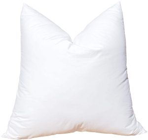 "With ""no feathers to poke you,"" the third neck pain relief pillow is 100% synthetic polyester. This pillow is a way bigger than the first two, even in their king's sizes. It is, however, more massive."