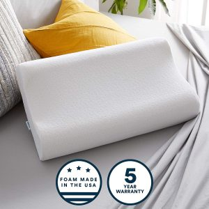 The two contours of this pillow make it an adjustable pillow, ideal for back or side sleepers. You can decide which contour will provide you with the best support.