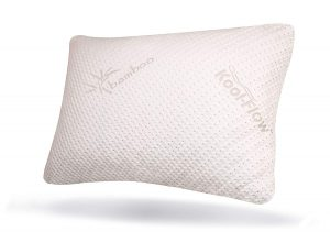 Made from shredded memory foam, this pillow promises to never go flat and provides you with support while you sleep, making it a good choice as the best neck pillow.