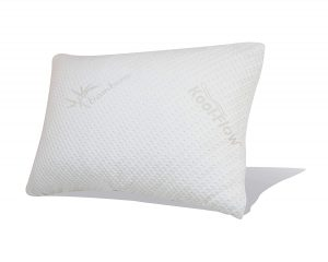 Snuggle-Pedic Combination Pillow is a shredded memory foam pillow that's completely adjustable, thus allowing you to achieve the exact loft height you need. It also comes with an extremely breathable outer cover made of 43% Viscose of Bamboo and 56.4% Polyester.