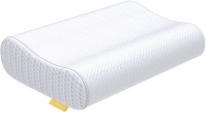 UTTU Sandwich Pillow is the best memory foam cervical pillow for those suffering from cervical pain. The UTTU dynamic memory foam also conforms to your body perfectly and offers optimal neck support. It's ideal for relieving pressure from your neck because the curved higher contour supports the curvature of your neck.