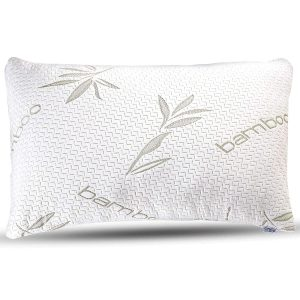 Shredded bamboo memory foam and polyester fiber have been used to fill this pillow. As a result, it provides both firm support and soft comfort. The foam is CertiPUR-US certified.