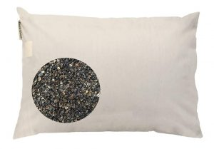 This natural pillow is filled with 100% US grown organic buckwheat hulls while the cover is 100% unbleached cotton. Buckwheat hulls may not seem like a natural choice for a pillow but it may relieve your stiff neck muscle pain and headaches.