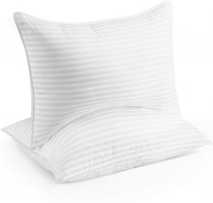 When your head and neck are kept in place while you are sleeping, you will not toss and turn. Look for a pillow, like the Beckham Hotel Collect Gel Pillow that has no shift construction. This pillow provides comfort, support and promises a good night's sleep.