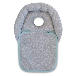This pillow has the sweetest elephant design and comes with a unique cut out design to support your baby's head. The design relieves pressure while it cradles your baby's head safely while they are in their cot, stroller or swing chair.