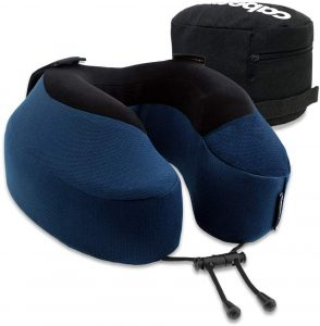 It is an inflatable travel pillow that offers you support on both sides and in front of your head, ensuring it supports your head regardless of how you sleep. The Seat Strap System attaches to the headrest and provides support to both sides of your head and will prevent your head from dropping forward.