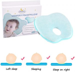 The ergonomic shape of this pillow will ensure the pressure of your baby's head is distributed evenly and that the spine is aligned correctly while your baby is sleeping.