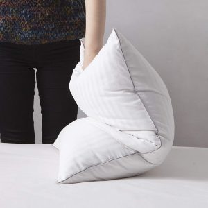 Goose down pillows are generally soft but the three-chamber design of this pillow means there is enough firmness while still maintaining the soft feel. It is suitable for all types of sleeping positions.