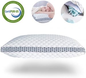 This pillow is adjustable which means that side sleepers, back sleepers, and stomach sleepers will all be able to find the right height for their sleeping styles.