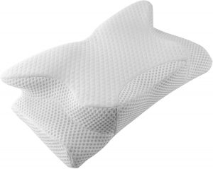 The third pain pillow has a unique design. It is not of a usual shape, which gives it a few advantages.