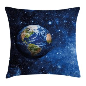 This is a fun pillow for a toy room or if you just love planet Earth. The cover is waterproof, making this pillow durable enough to be used both outdoors and indoors.