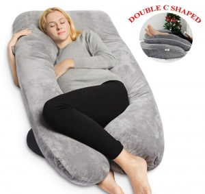 The u-shaped pillow conforms to the contours of your body supporting both your belly and your back so that you can sleep comfortably and pain-free.