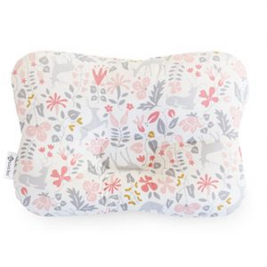 This is a flat head pillow that offers head and neck support for your newborn.