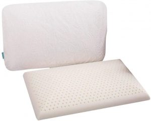 "This really is an ultra-thin pillow, it is only 2.6"" high in the middle and 1.3"" in the middle, making it a great option for stomach and back sleepers. This pillow is so low it will naturally stretch your neck muscles and support your head and neck while maintaining the physiological curve of your spine."